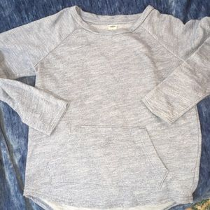 Girls Old Navy Heather Blue top, Sz 8